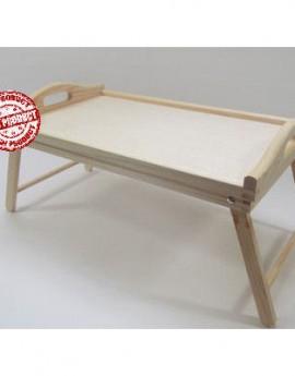 Δίσκος ξύλινος με πτυσσόμενα πόδια 50x30x27cm