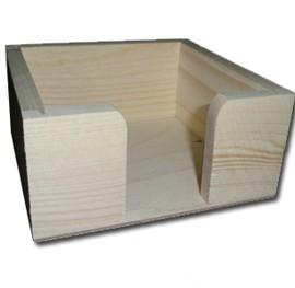 Θήκη ξύλινη για κάρτες 11,2x11,2x5,5 cm
