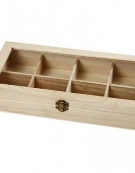 Κουτί με γυαλινο καπάκι 32x16x6 cm