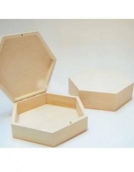 Κουτί ξύλινο εξάγωνο