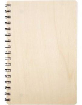 Note Book,με ξύλινο εξώφυλλο, 15,5x22,3 cm