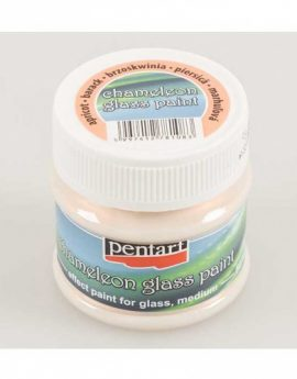 Pentart-Chameleon-Effect-Paint-For-Glass-Apricot