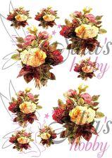 Ριζόχαρτα με λουλούδια - συνθέσεις